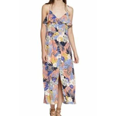 Sanctuary サンクチュアリ ファッション ドレス Sanctuary NEW Pink Womens Size Small S Tropical Ruffle Maxi Dress
