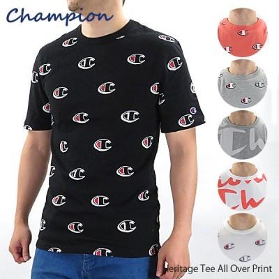【ネコポス配送可:1枚まで】Champion チャンピオン Heritage Tee All Over Print  Tシャツ  T1919S