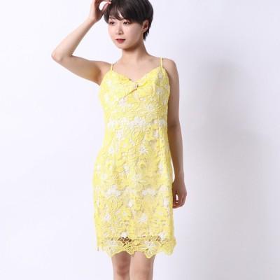 ゲス GUESS TYELA FLORAL-CROCHET DRESS (SUN SHADE MULTI)