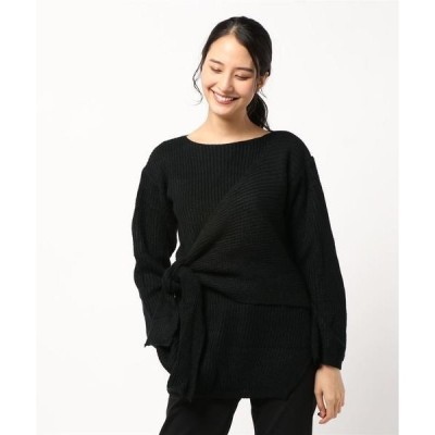 ニット レイヤードデザインプルオーバーニットセーター