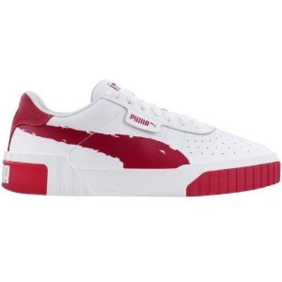 プーマ レディース スニーカー シューズ Cali Brushed Platform Sneakers Puma White / Cerise