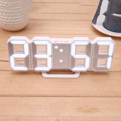 8 型 Usb デジタルテーブルクロック壁時計 Led 時刻表示クリエイティブ腕時計 24 12 時間表示アラームスヌ