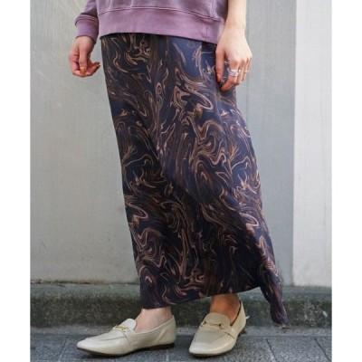 スカート Uncut Bound(アンカットバウンド) サテンマーメイドスカート