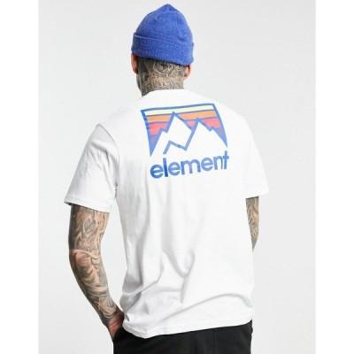 エレメント メンズ Tシャツ トップス Element Joint back print t-shirt in white White