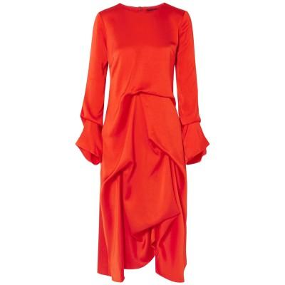 シエス・マルジャン SIES MARJAN 7分丈ワンピース・ドレス レッド 0 レーヨン 52% / アセテート 48% 7分丈ワンピース・ドレス