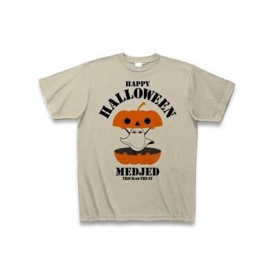 ハロウィーン メジェド様 カボチャDesign Tシャツ(シルバーグレー)