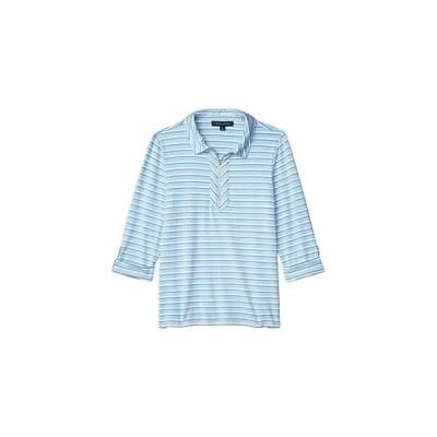 トミー・ヒルフィガー 1u002F2 Zip Stripe Shirt レディース シャツ トップス French Blue Multi