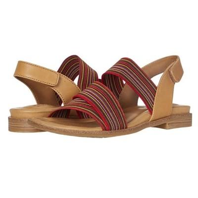Comfortiva Dacey レディース ヒール パンプス Luggage/Red Multi M-Vege/Striped Elastic