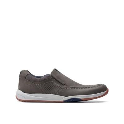 クラークス スリッポン・ローファー シューズ メンズ Men's Langton Step Slip-on Shoes Gray