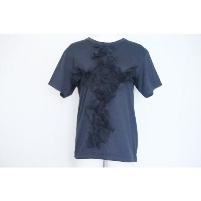 #snc コムデギャルソン COMMEdesGARCONS Tシャツ M 黒系 半袖 コムコム 2018 レース レディース [649534]