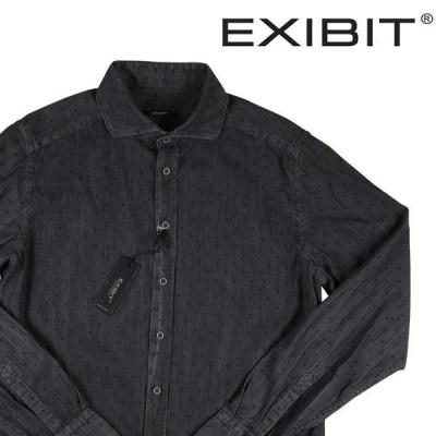 EXIBIT(エグジビット) デニムシャツ CA113C153 グレー x ブラック L 1003 【A1003】