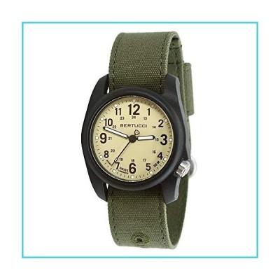 Bertucci メンズDX3エバーグリーンコンフォートキャンバスバンドサグアロアナログダイヤルクォーツ時計