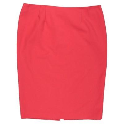 CLIPS MORE ひざ丈スカート ファッション  レディースファッション  ボトムス  スカート  ロング、マキシ丈スカート レッド