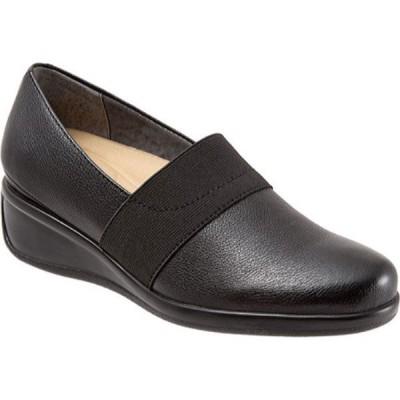 トロッターズ Trotters レディース スリッポン・フラット シューズ・靴 Marley Slip-On Black Leather