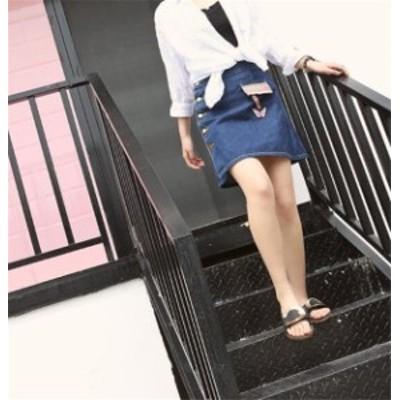 レディーススカート デニム プリント ファッション マッチングしやすい ファッション 着心地いい おしゃれ 夏 セール★ レディーススカー