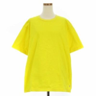 【中古】トラディショナルウェザーウェア BOX T-SHIRT Tシャツ 半袖 丸首 クルーネック 無地 イエロー S IBS88
