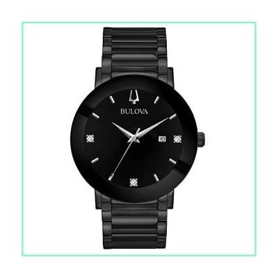 ブローバ メンズ ステンレススチール製カジュアル腕時計 モダンクオーツ 色:ブラック (モデル: 98D144)【