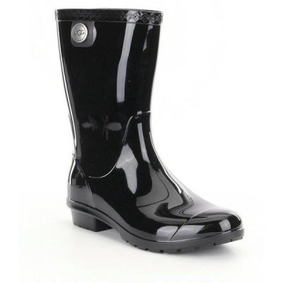 アグ レディース ブーツ&レインブーツ シューズ UGG Sienna Rubber Shearling Lined Glossed Waterproof Rain Boots Black