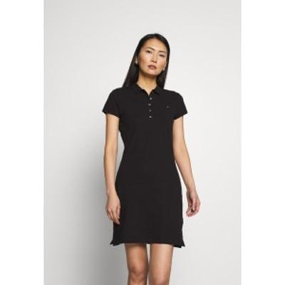 トミー ヒルフィガー レディース ワンピース トップス SLIM DRESS - Day dress - black black