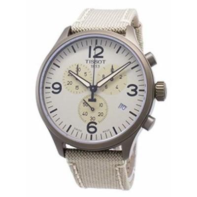 【当店1年保証】ティソTissot Men's Chrono XL Khaki Stainless Steel Watch T1166173726701
