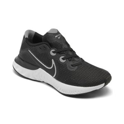 ナイキ レディース スニーカー シューズ Women's Renew Run Running Sneakers from Finish Line Black, Metallic silver