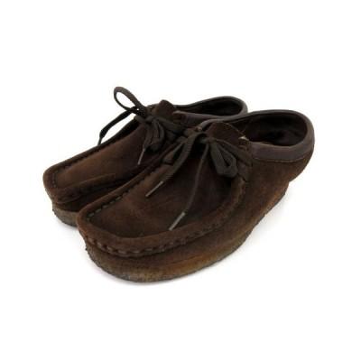 【中古】クラークス clarks ワラビー モカシン スエード スウェード 茶 ブラウン 6M 靴 シューズ FK NVW レディース 【ベクトル 古着】