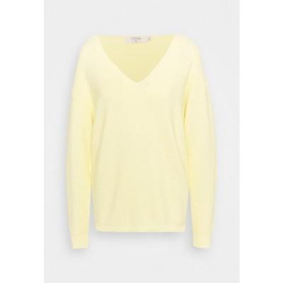 クリーム レディース ファッション CRSILLAR - Jumper - pale yellow delight