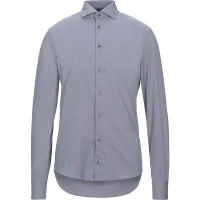 ジャンフランコ GIANFRANCO CENCI メンズ シャツ トップス Solid Color Shirt Grey