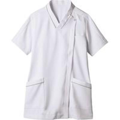 住商モンブラン住商モンブラン スクラブ レディス 半袖 白×グレー L 73-2100(直送品)
