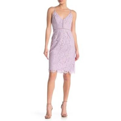 アストール レディース ワンピース トップス Lace V-Neck Sheath Dress LILAC