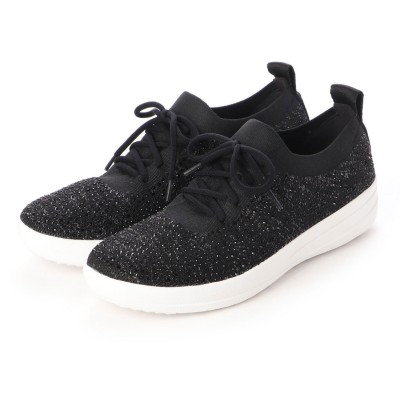 フィットフロップ fitflop F-SPORTY UBERKNIT SNEAKERS - CRYSTAL (Black)
