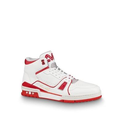 ルイヴィトン LOUIS VUITTON スニーカー シューズ 靴 レッド ホワイト カーフレザー