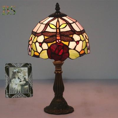 北欧 テーブルランプ ガラス工芸 卓上ライト ステンドグラス 豪華 ティファニー LED 花柄 アンティーク おしゃれ 書斎 寝室 インテリアランプ