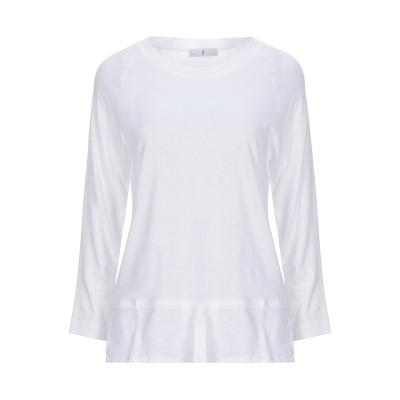 WHYCI T シャツ ホワイト 40 レーヨン 70% / リネン 30% T シャツ