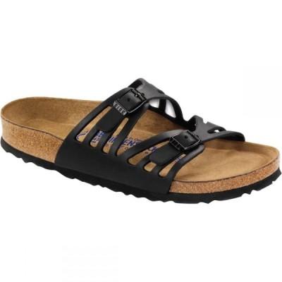 ビルケンシュトック Birkenstock レディース サンダル・ミュール シューズ・靴 Granada Soft Footbed Leather Narrow Sandal Black Oiled Leather