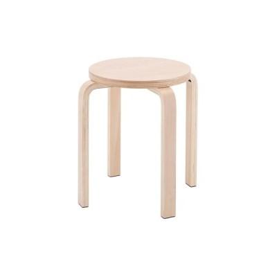 丸椅子 幅420×奥行420×高さ440mm スツール 木製 スタッキングチェア おしゃれ ウッドチェア ミーティングチェア 会議椅子 木製丸椅子 Z-SHSC