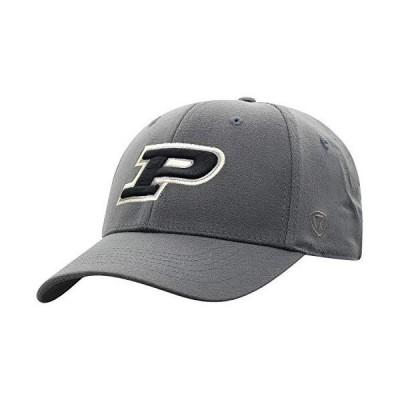 Top of the World Purdue Boilermakers メンズ メモリーフィット 帽子 アイコン チャコール ワンフィット