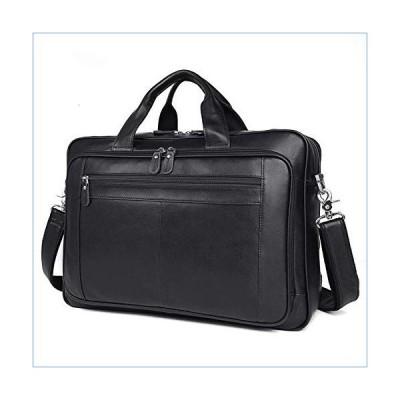 JUROUXIYUJIN Men's Genuine Leather Briefcase Atmosphere Fashion Quality First Layer Leather 17 Inch Business Men's Bag Large Handbag (Color : Black)