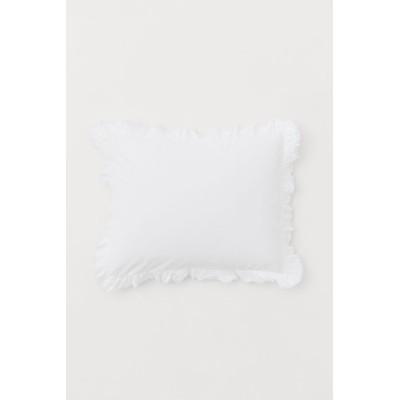 H&M - フリルトリムピローケース - ホワイト