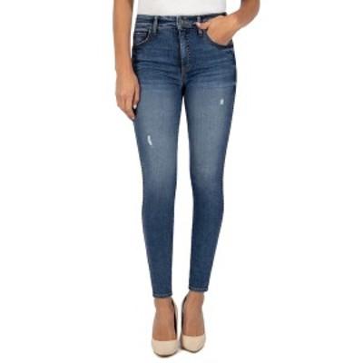 カットフロムザクロス レディース デニムパンツ ボトムス Mia High Rise Fab AB Toothpick Skinny Jeans CUMULATED W/MED