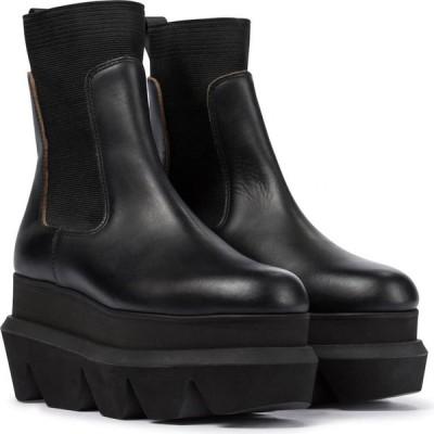 サカイ Sacai レディース ブーツ チェルシーブーツ シューズ・靴 platform leather chelsea boots Black