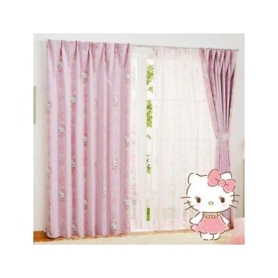 ハローキティ 2級 遮光 遮熱 カーテン 2枚セット サンリオ Sanrio Kitty キャラクター SB-521-S   巾100x丈135   2枚組