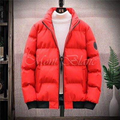 中綿ジャケット メンズ ウォーマージャケット 中綿入り 厚手 暖かい ジップアップコート ジップアップジャケット アウターウエア 秋冬