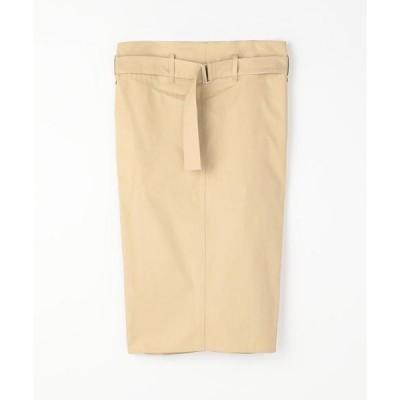 スカート SOFIE D' HOORE コットンツイルベルテッドタイトスカート