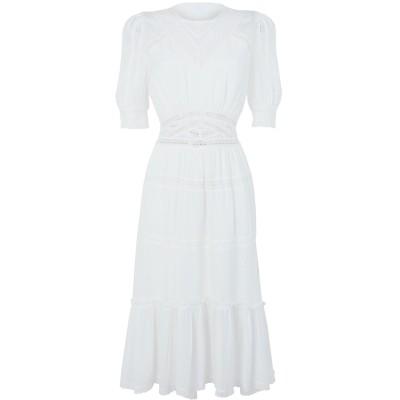 クープルズ THE KOOPLES 7分丈ワンピース・ドレス ホワイト 1 レーヨン 100% 7分丈ワンピース・ドレス