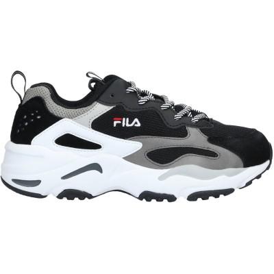 FILA スニーカー&テニスシューズ(ローカット) ブラック 9.5 革 / 紡績繊維 スニーカー&テニスシューズ(ローカット)