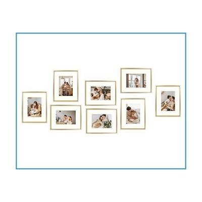 新品Golden State Art 8 x 10 クラシックサテンアルミ製 風景またはポートレート 卓上フォトフレーム アイボ