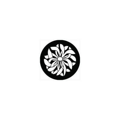 家紋シール 乱菊紋 直径4cm 丸型 白紋 4枚セット KS44M-3005W