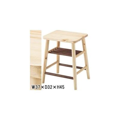 スツール 腰掛 椅子/天然木 パイン/1脚/W37 D32 H45