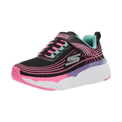 Skechers girls Max Cushioning Elite-swift About Sneaker, Black/Multi, 12.5
